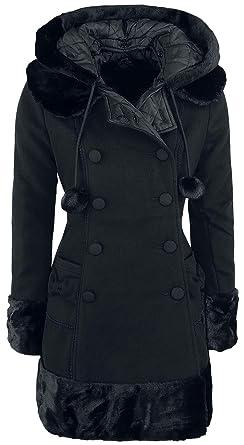 Hell Bunny Sarah Jane Coat Abrigo de Invierno Negro: Amazon.es: Ropa y accesorios