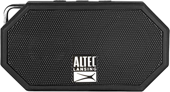Altec Lansing IMW257-BLK Mini H2O Wireless Bluetooth Waterproof Speaker