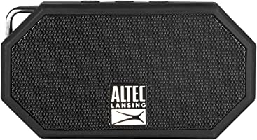 Altec Lansing IMW257-BLK Mini H2O Wireless Bluetooth Waterproof Speaker, Floating IP67 Waterproof, Boat, Hiking, Golf...