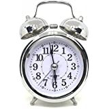 Estilo radium Dial Vintage Look Bending Glass Table Alarm Clock With Night Led Display