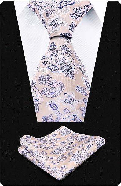 Alizeal Multicolor Paisley-Corbata y Pa/ñuelo para Hombre