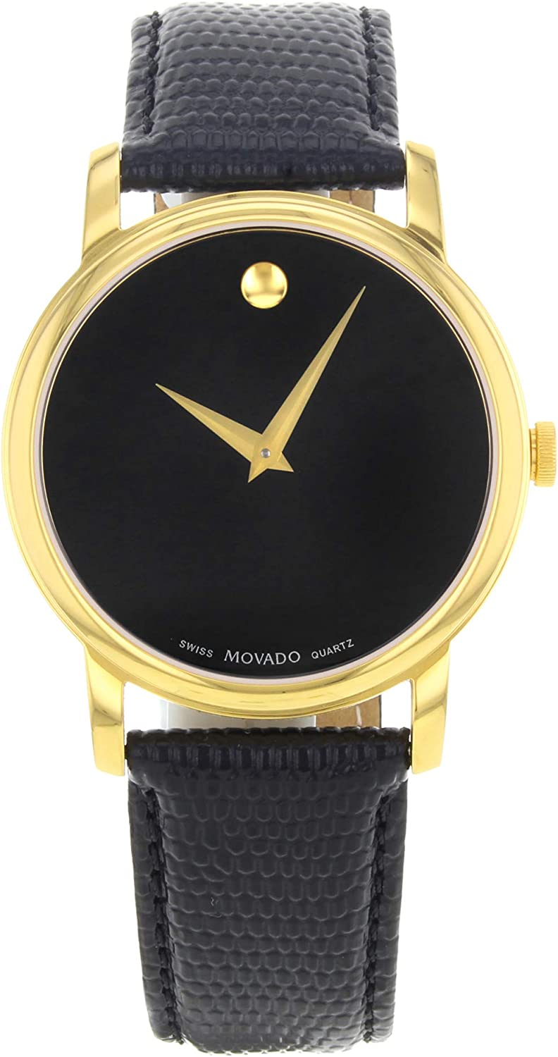 Movado Men s 2100005 Museum Gold Classic Leather Watch