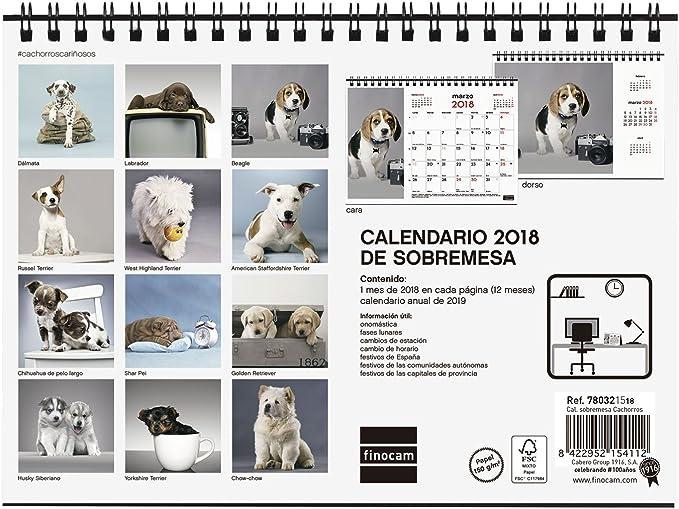 Finocam Imágenes - Calendario de sobremesa 2018, diseño cachorros ...