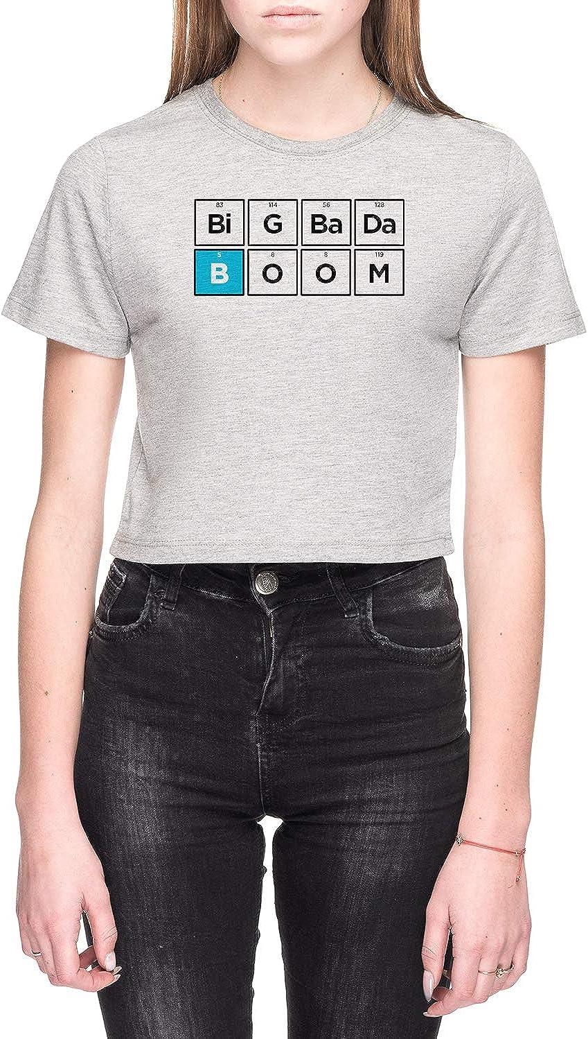 Rundi Boron Mujer Camiseta De Crop Gris Todos Los Tamaños - Women's Crop T-Shirt Grey
