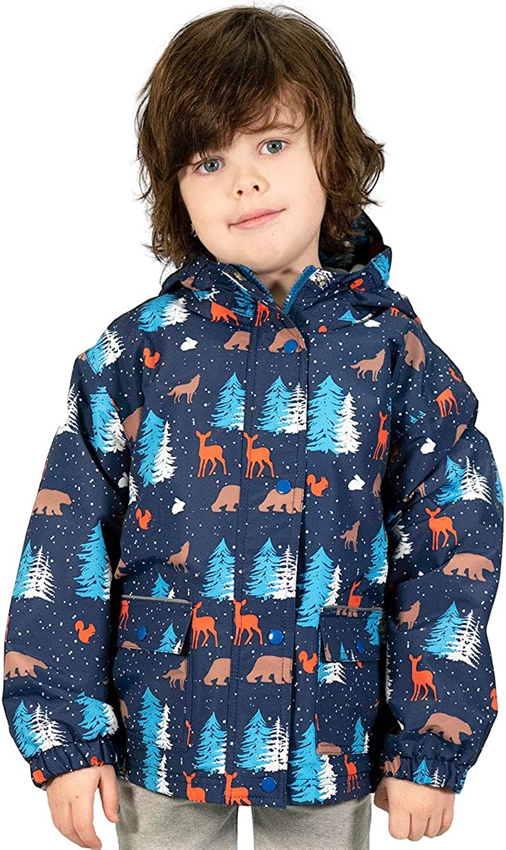JAN /& JUL Kids Rain Jacket 100/% Waterproof CozyDry Fleece-Lined Coat for Boys Girls Toddlers