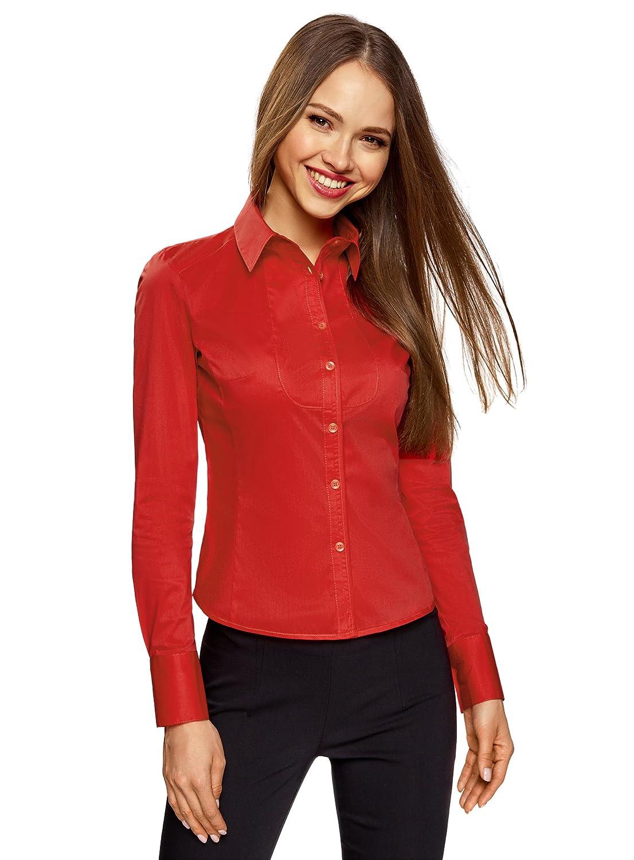 TALLA XS. oodji Collection Mujer Camisa de Algodón