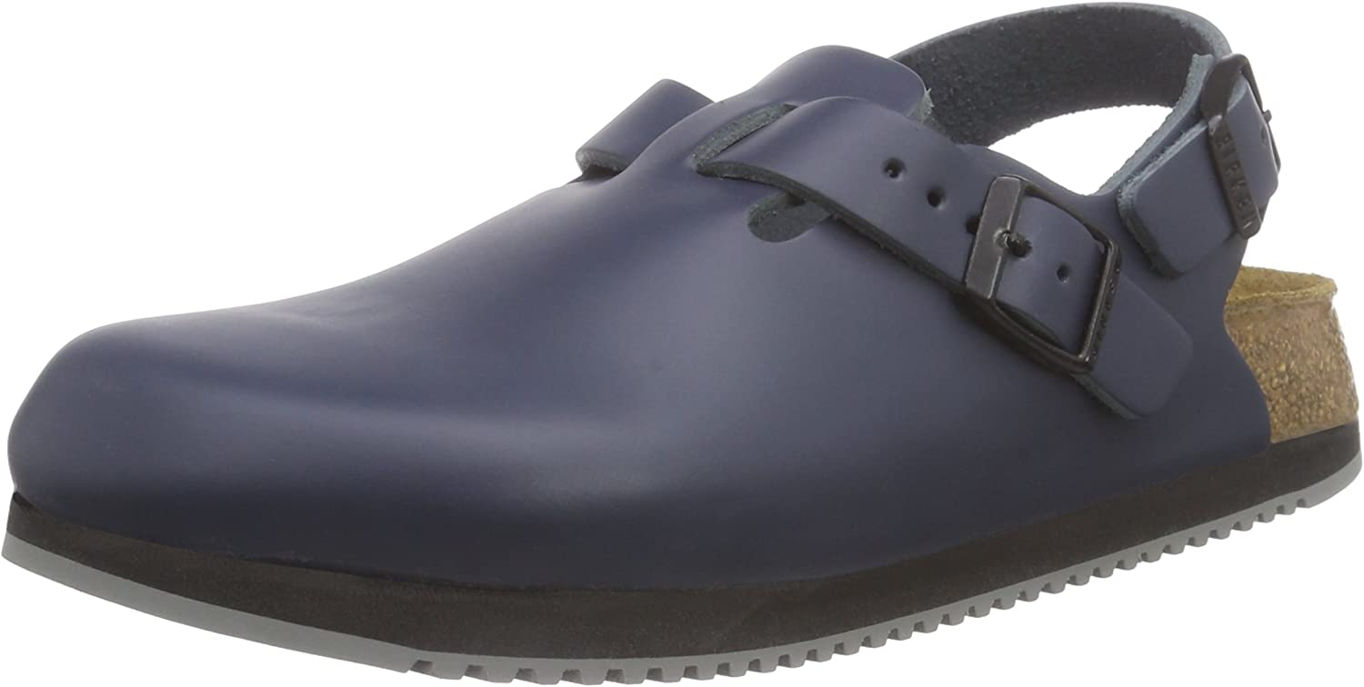 "Birkenstock ""Tokio"" Super Grip - Leather Blue - Unisex Clogs"