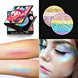 FantasyDay Pro 6 Colors 3D Baked Rainbow Highlighter Eyeshadow Makeup Palette Cosmetic Blusher Shimmer Powder Contouring Kit