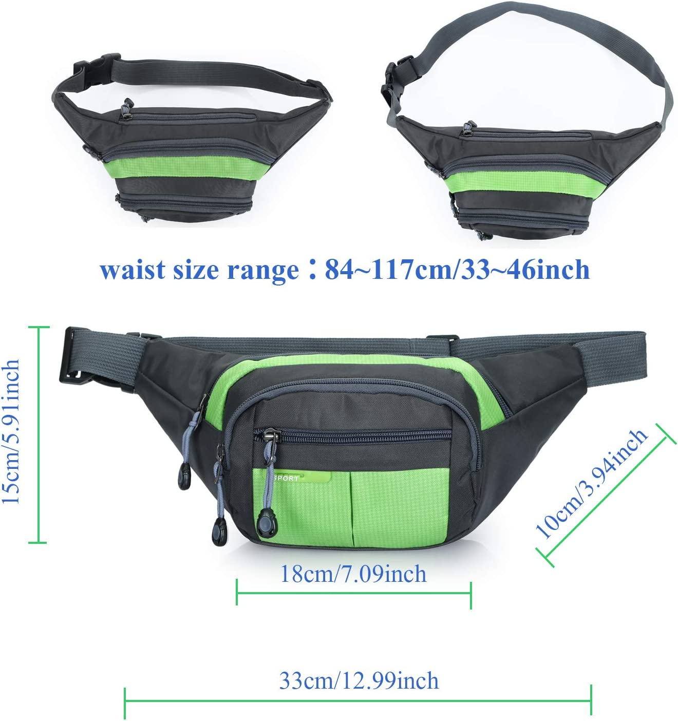 NCAA Ribbon Waist Pack Purse