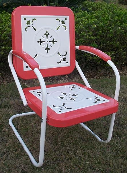 Amazon Com 4d Concepts 71540 Metal Retro Chair Patio Lounge