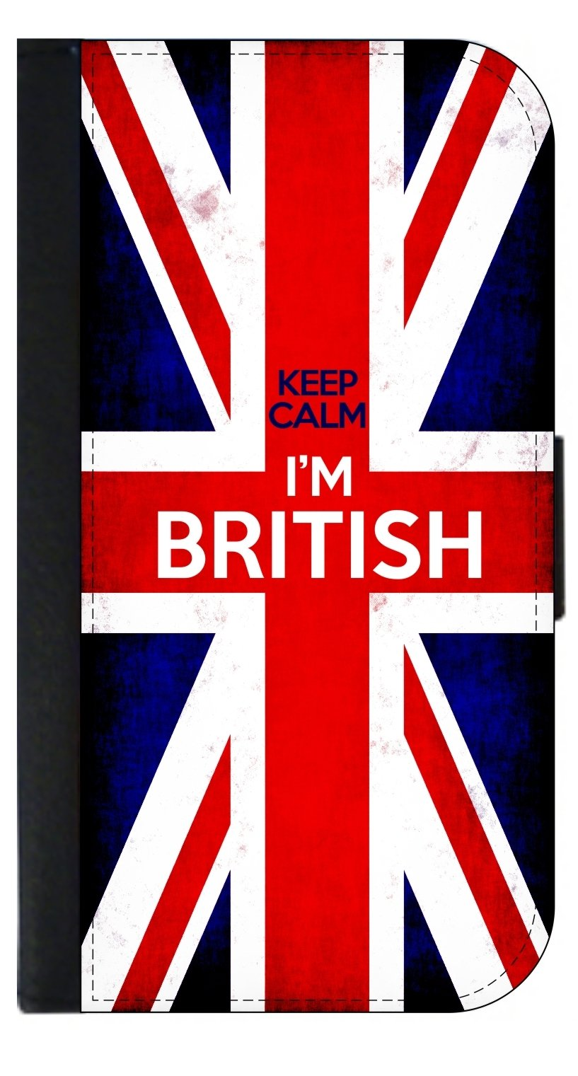 Keep Calm I'm British - Passport Protector Keeper Case Cover / Card Holder for Travel