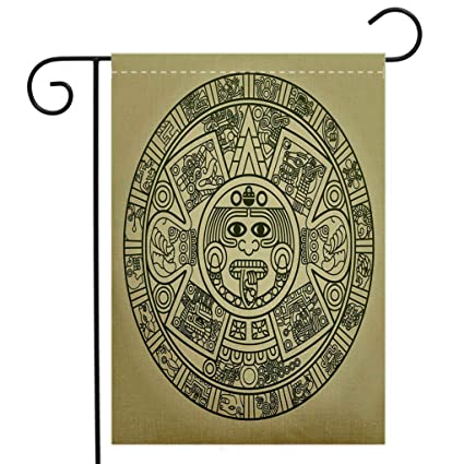 eb84eb861 Amazon.com : BEIVIVI Custom Double Sided Seasonal Garden Flag Stylized Aztec  Calendar Welcome House Flag for Patio Lawn Outdoor Home Decor : Garden & ...