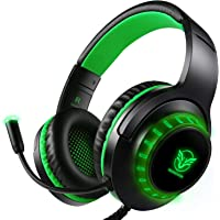 Pacrate Gaming Headset with Microphone for PS4 PC Xbox One Headset Stereo Surround Sound Intense Bass Headphone with LED…