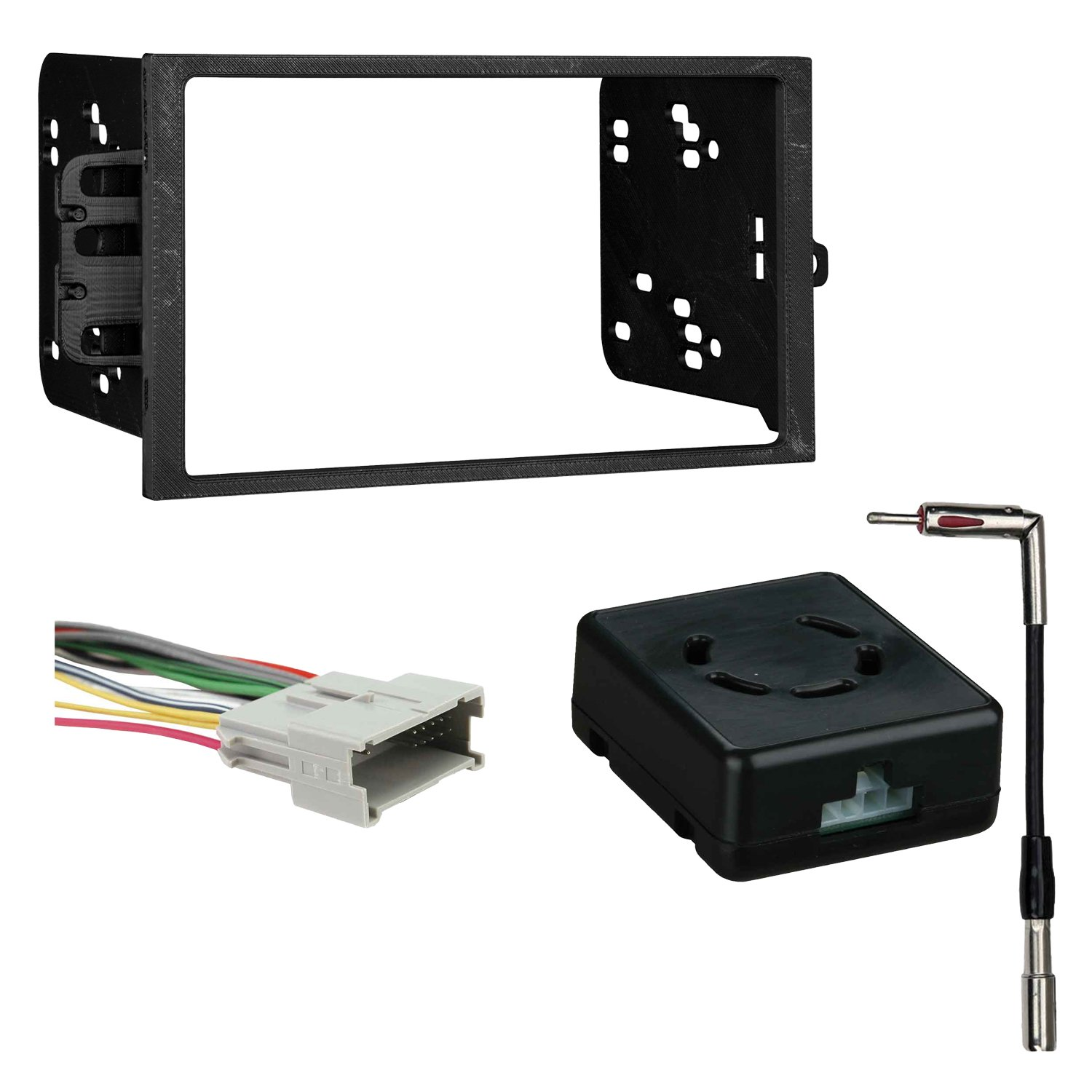 Metra 95-2001 2-DIN Dash Kit + Chime Retention Interface for Select 2000-10 GM METRA Ltd 95-2001 + LC-GMRC-01 + AD-GM1