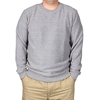 A.P.C. Men's Sweatshirts Tops in Gris Chine Grey S: Clothing