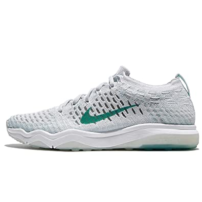 976a8e2dd856e NIKE Women's Wmns Air Zoom Fearless Flyknit, White/Aurora Green, 7.5 US