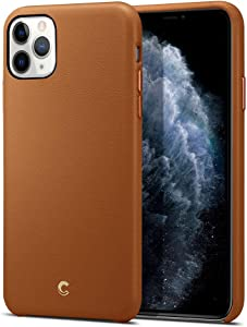 CYRILL Basic Leather Designed for Apple iPhone 11 Pro Max Case (2019) - Saddle Brown