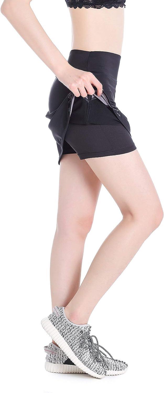 Golf Annjoli Womens Running Skirt Casual Gym Tennis Skort for Workout Gym XL, Black//Pattern