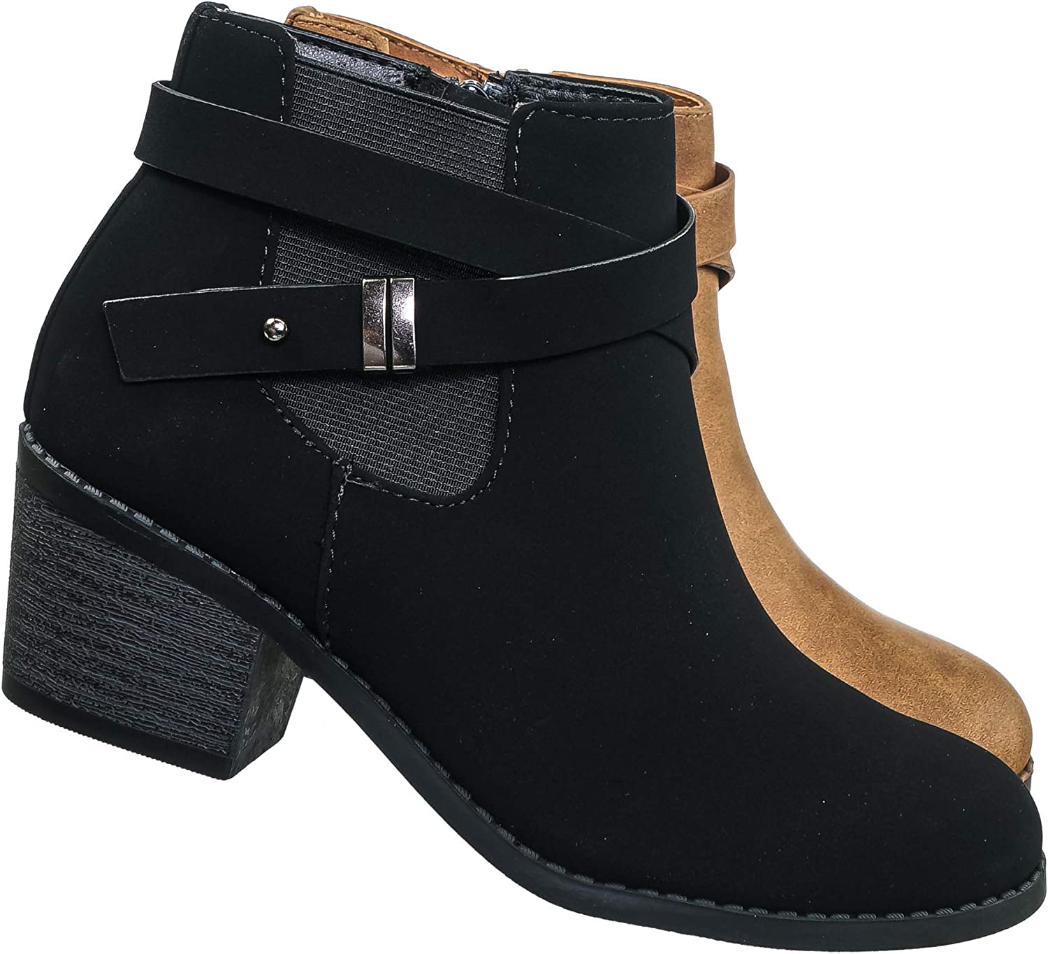 Girl Harness Engineer Ankle Boots