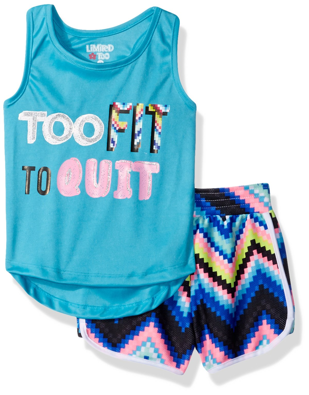 Limited Too Toddler Girls' Knit Top and Short Set (More Styles Available), Multi Print, 4T