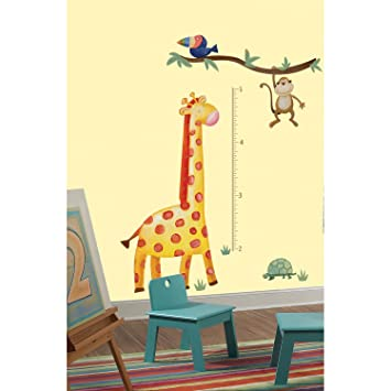 RoomMates Repositionable Childrens Wall Stickers Jungle Adventure Giraffe  Height Chart (cm) Part 40
