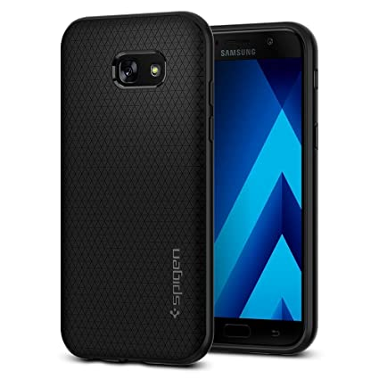 Spigen Coque Samsung Galaxy A5 2017 Liquid Air Coussin Dair Noir Flexible Silicone Souple Housse Etui 573CS21143 Amazonfr