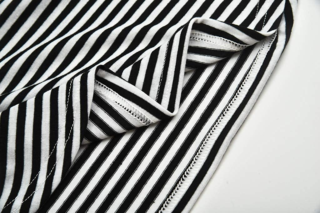 Women Pregnant Nusring Maternity Short Sleeve Stripe Print Floral Blouse Tops