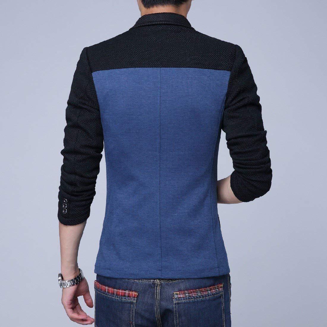 HaiDean Blazer da Uomo Slim Blazer 1 Fit Blazer Casual Moderna Button Suit Giacche Primavera Business Basic Risvolto Casual da Uomo Casual Blazer da Uomo Elegante