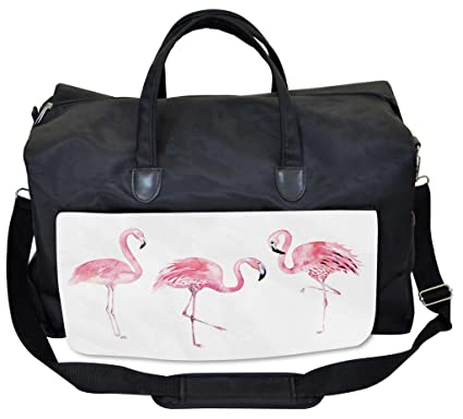 15063aa85c2 Image Unavailable. Image not available for. Color  Lunarable Pink Flamingo Gym  Bag ...