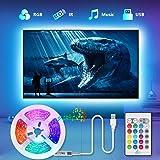 Tiras LED TV 2.2M, TASMOR Tira LED USB RGB 5050 Sincronización de Música Multicolor, Luces LED Habitación con Control…