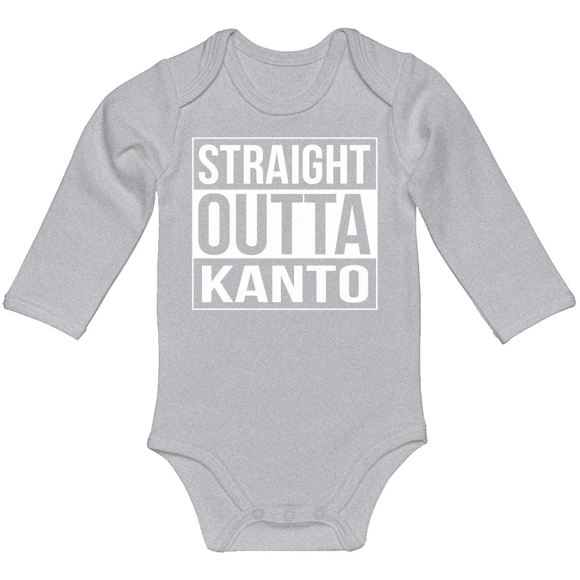 Indica Plateau Baby Romper Straight Outta Kanto 100/% Cotton Long Sleeve Infant Bodysuit