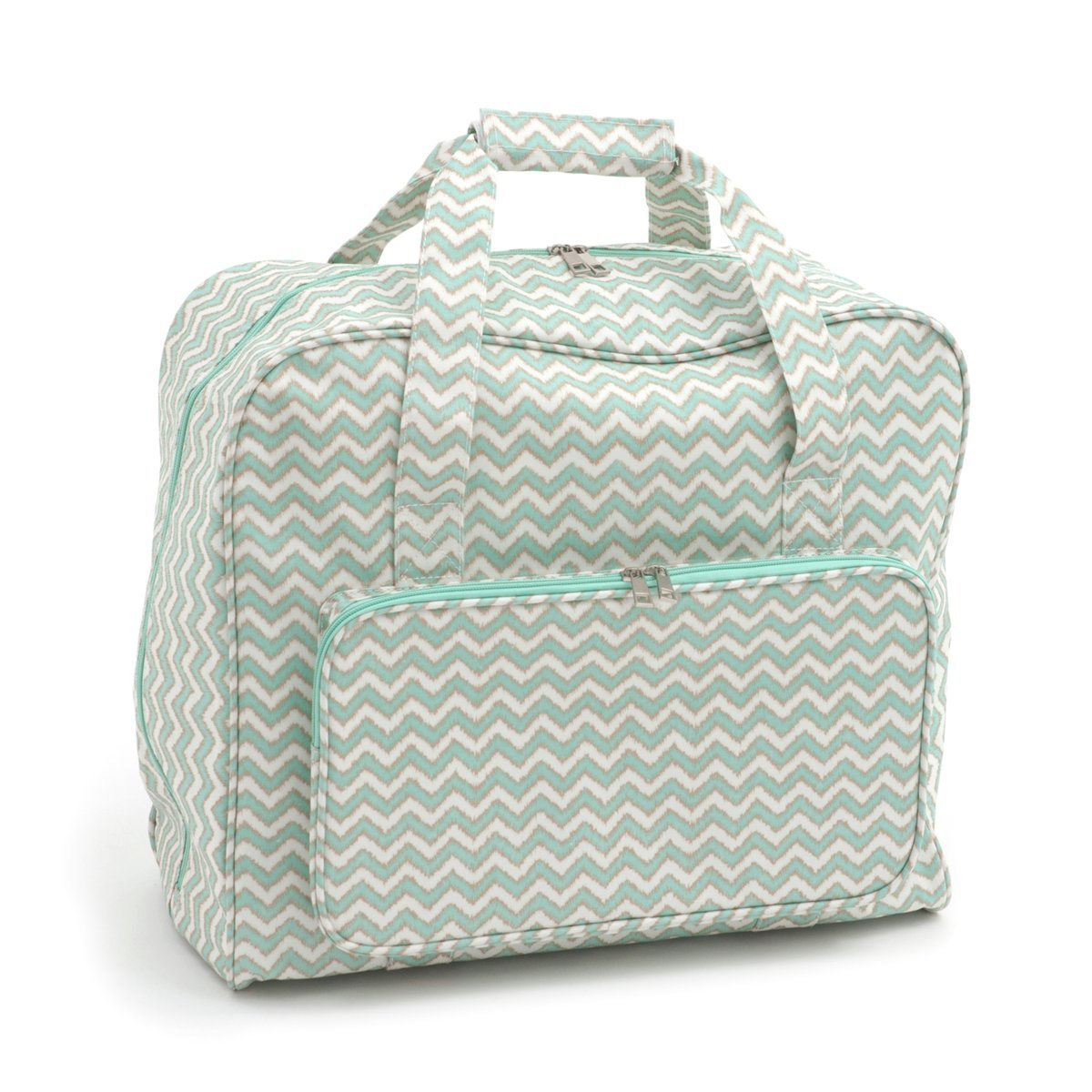 Hobbygift Groves Exclusive: Sewing Machine Bag: Matt PVC: Scribble Chevron, Cotton, Assorted, 20 x 43 x 37 cm MR4660\269