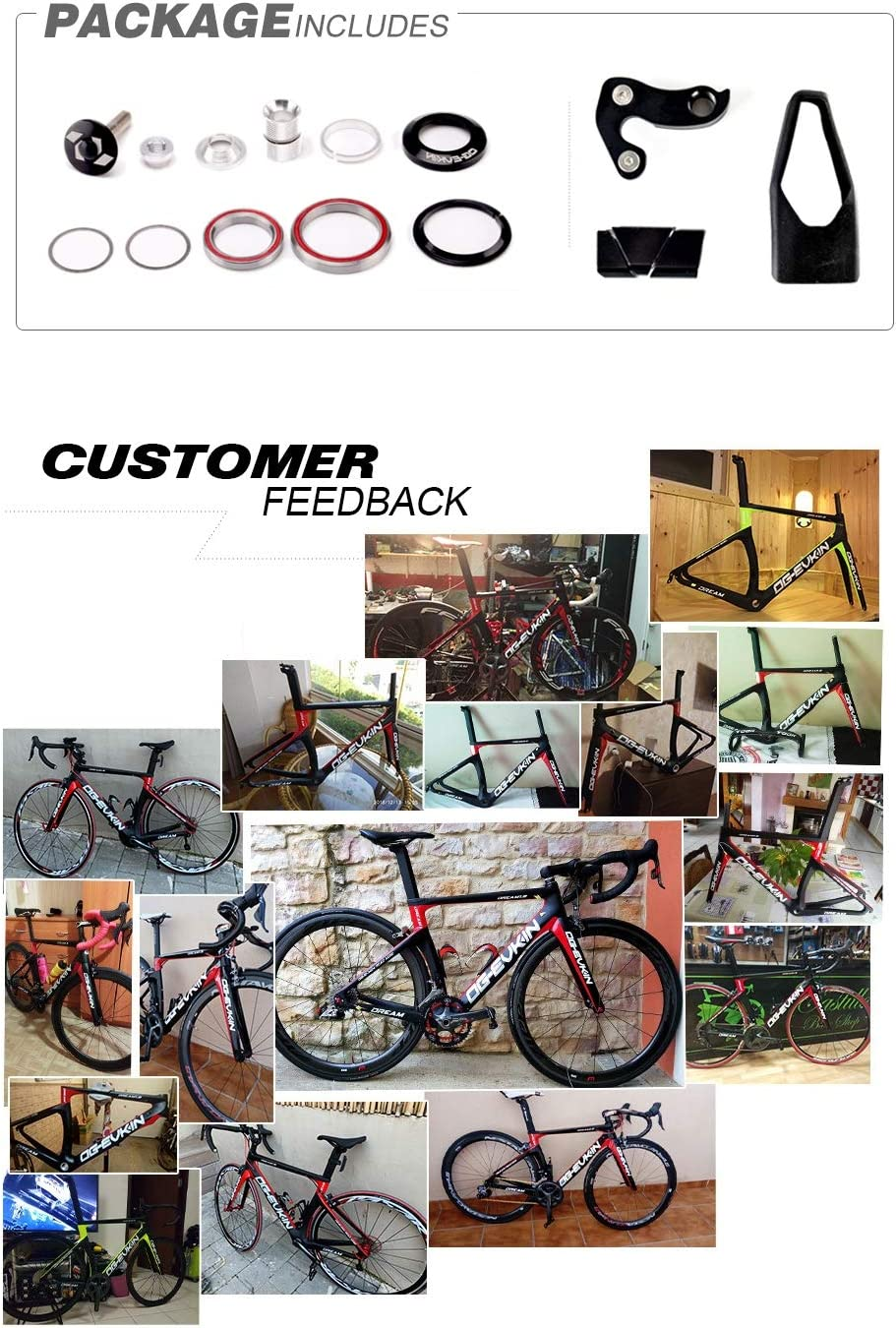 WANGYONGQI Cuadro de Bicicleta de Carretera de Carbono T1000 UD ...