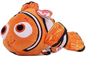 95896cdede0 Image Unavailable. Image not available for. Colour  TY Big Eyes Beanie Boos  Plush Toy Doll Disney Pixar Finding Dory Nemo Limited Edition Nature s