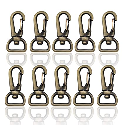 Arts,crafts & Sewing Apparel Sewing & Fabric 10pcs 13mm Metal Clip Buckle For Fashion Handbag Wallet Belt Clasp Bag Hardware Snap Dog Buckle Key Clasp Diy Bag Accessory Snap
