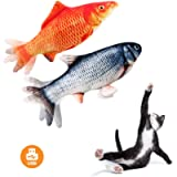 Fish Cat Toy Moving Fish Toy Flopping Fish Cat Toy for Cats Interactive Pets Chew Bite Supplies Catnip - Perfect for…