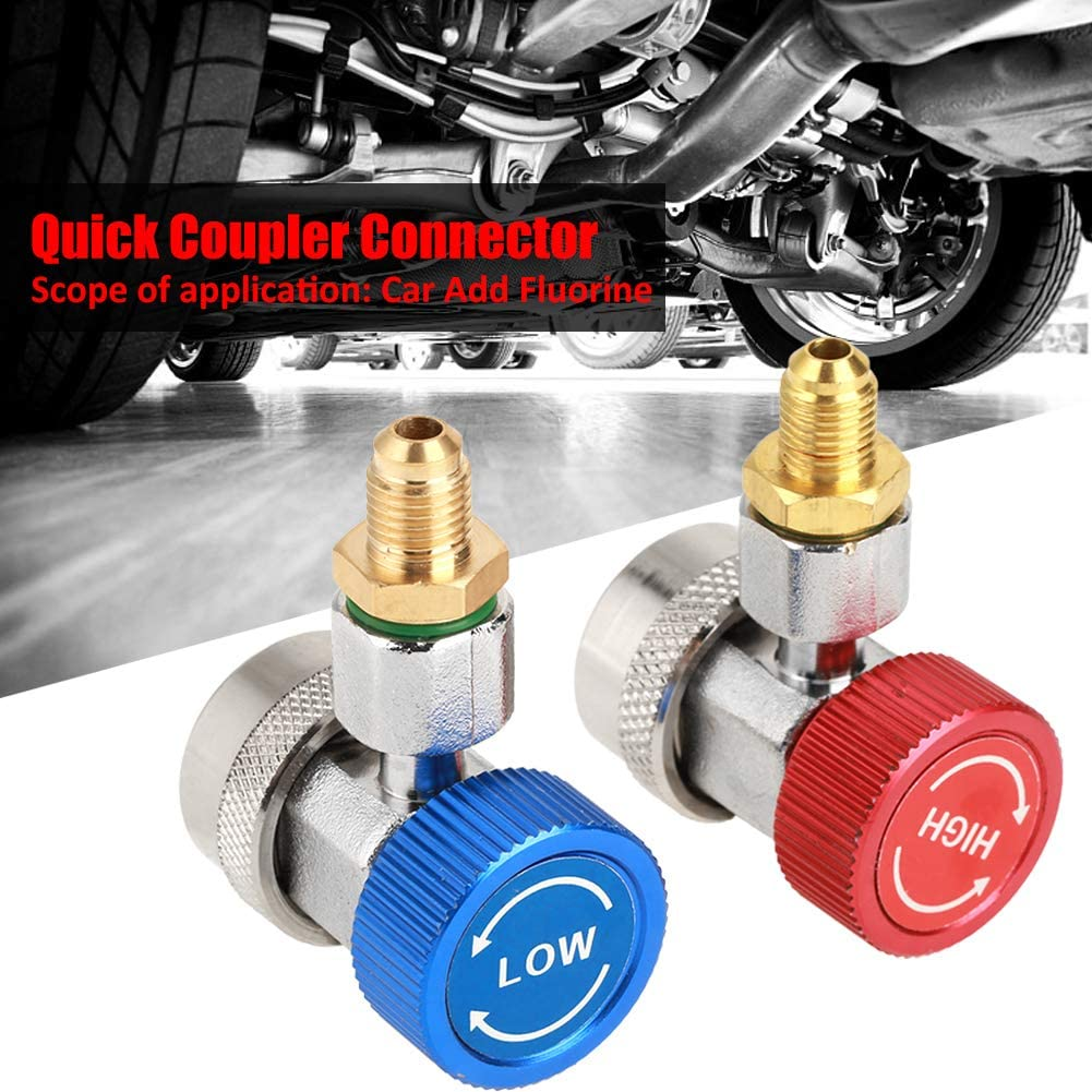 Wal front R134 A//C Low//High Quick Connector Air Conditioning Coupler Adapter with Cap