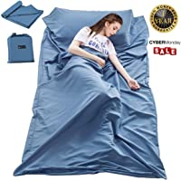 Cotton Sleeping Bag Liner Travel and Camping Sheet Lightweight Compact Sleep Bag Sack Picnic