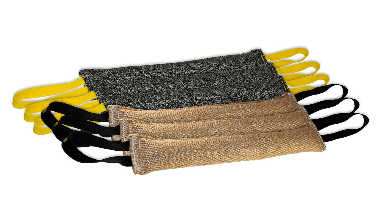 Dean & Tyler Bundle of 6 Tugs for Pets, 3-Jute and 3-French Linen, 24-Inch by 4-Inch