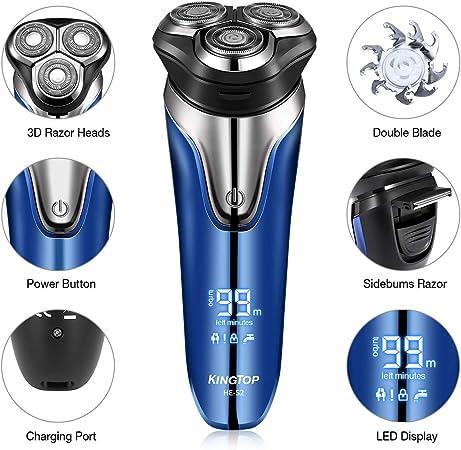 Máquina de Afeitar de Rotación Afeitadora Eléctrica para Hombres ...