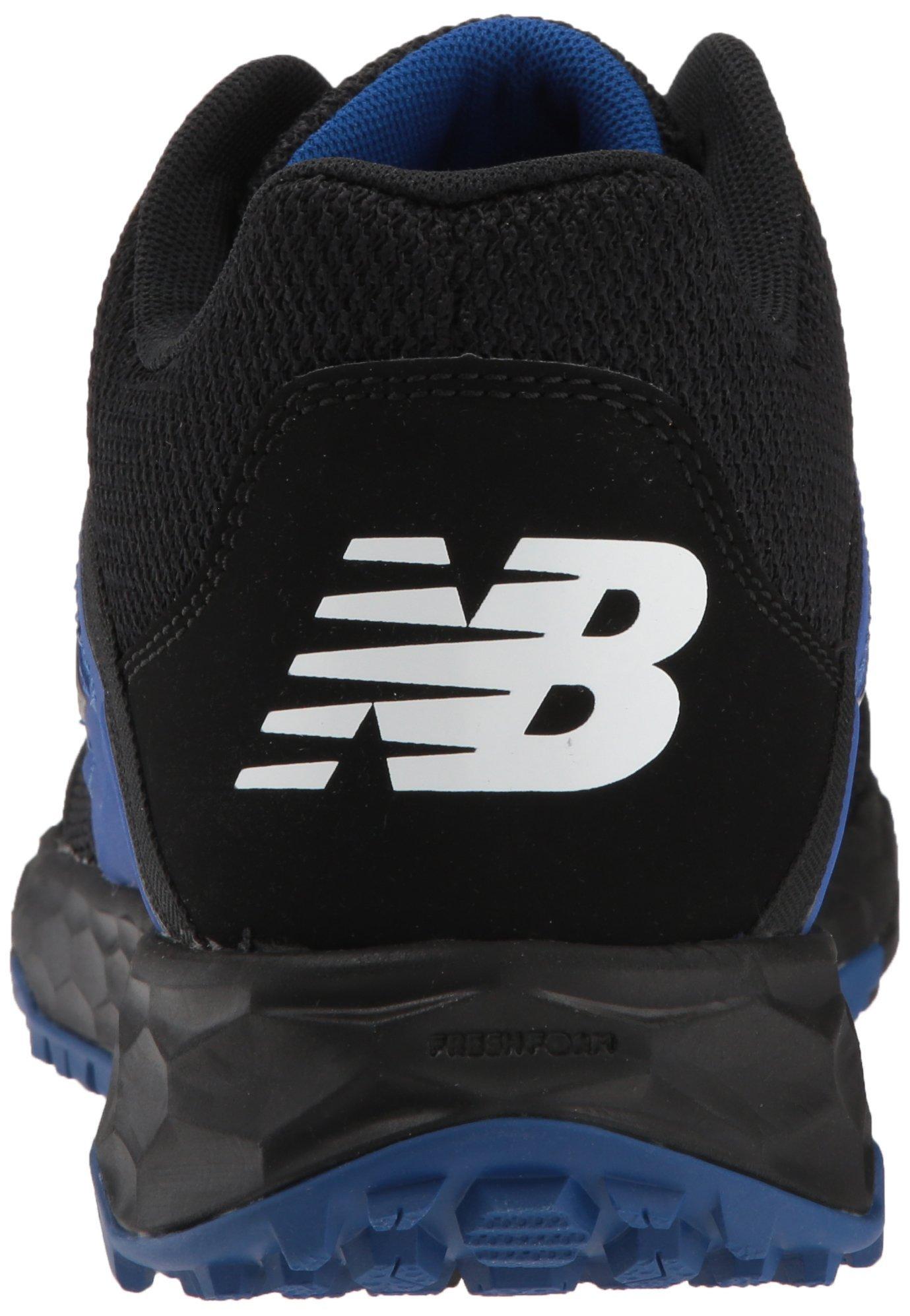 New Balance Men's 3000v4 Turf Baseball Shoe, Black/Blue, 5 D US by New Balance (Image #2)