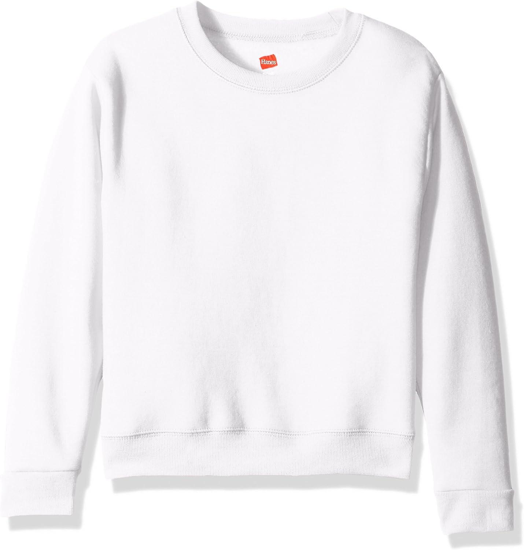 Hanes Big Girls' ComfortSoft Ecosmart Fleece Sweatshirt: Clothing