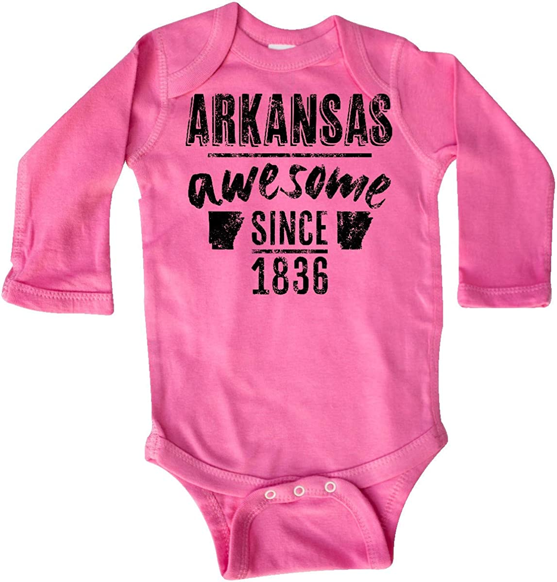 inktastic Arkansas Awesome Since 1836 Long Sleeve Creeper
