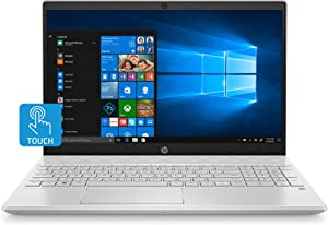 HP Pavilion 15-Inch HD Touchscreen Laptop, 10th Gen Intel Core i5-1035G1, 8 GB RAM, 512 GB Solid-State Drive, Windows 10 Home (15-cs3010nr, Mineral Silver)