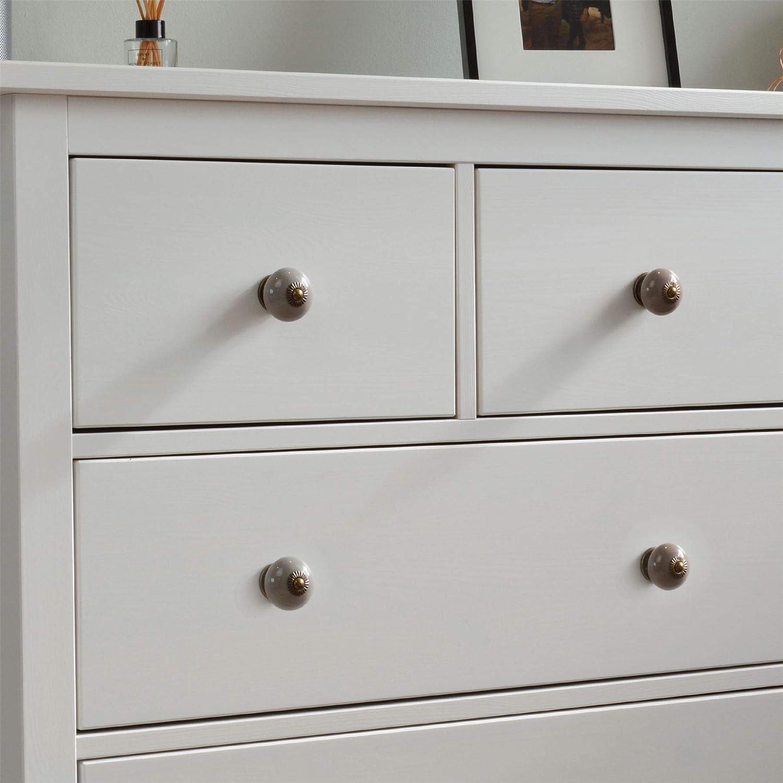 Nicola Spring Ceramic Cupboard Drawer Handle Knob Grey