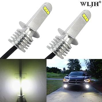 WLJH Bombillas LED H1 (2 unidades, 6000 K, luz blanca brillante, 800