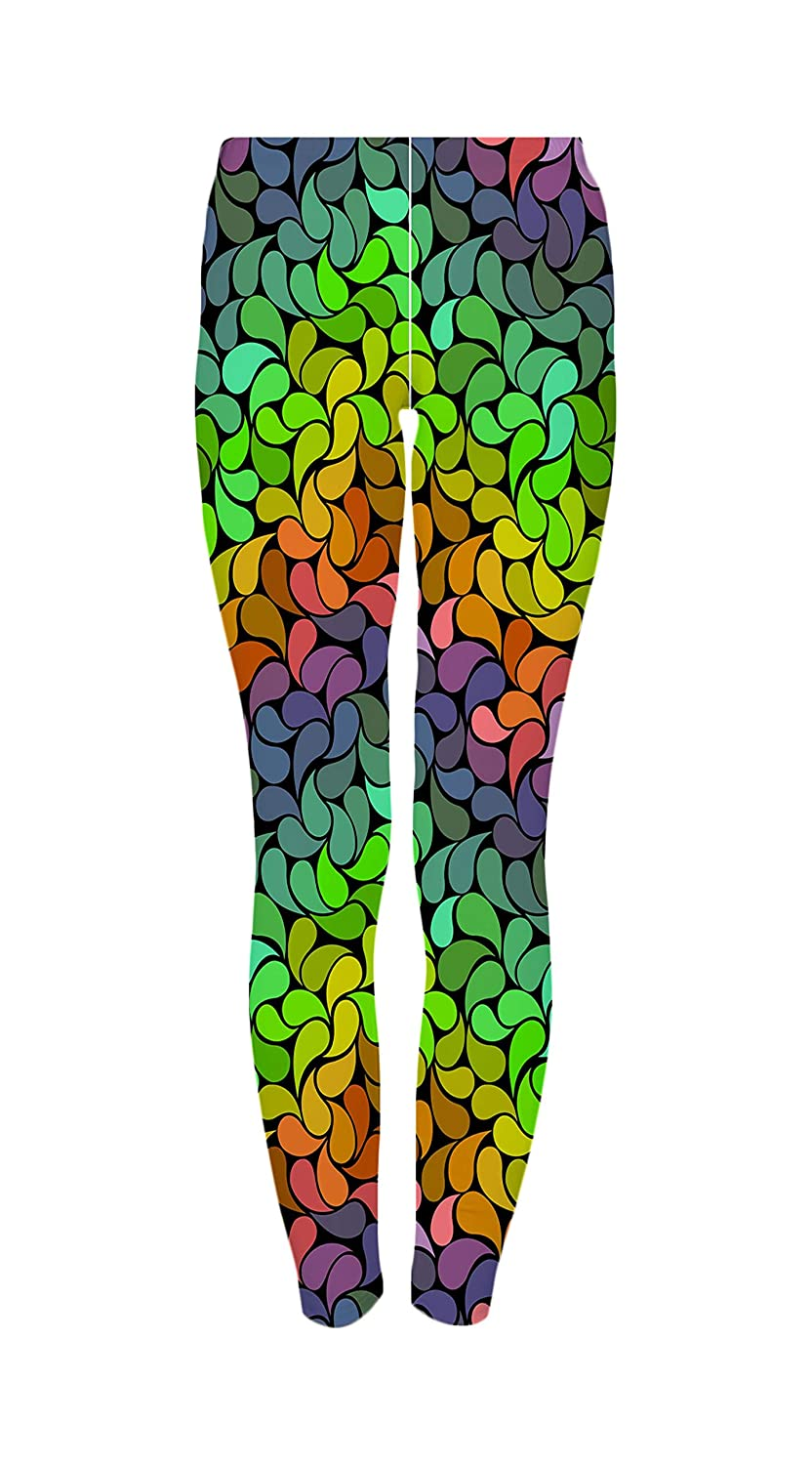 719ef5421e Amazon.com: Bright Rainbow Petals Women's Ultra Soft Popular Printed  Fashion Leggings Tight Pants: Clothing