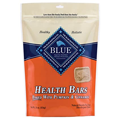 Click for Blue Buffalo Baked Health Bars Dog Pet - Pumpkin and Cinnamon - 1 Pound Bag - USA