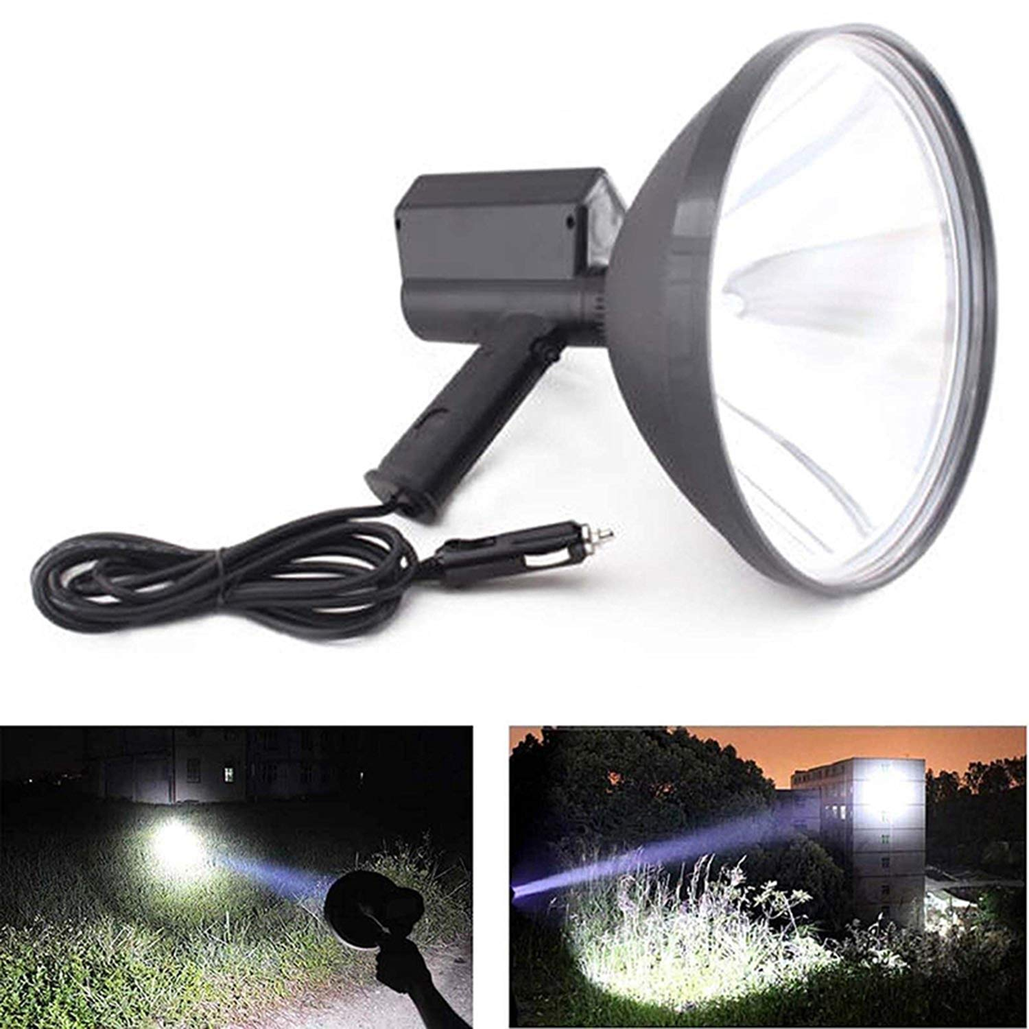 9 inch Portable Handheld HID Xenon Lamp 1000W 245mm Outdoor Camping Hunting Fishing Spot Light Spotlight Brightness by ToGames (Image #2)