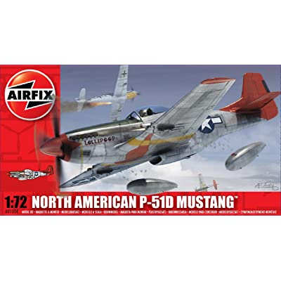 Airfix 1:72 North American P-51D Mustang (A01004): Toys & Games